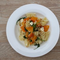 Roasted Pumpkin Pasta with Pine nuts, Crispy Sage & two cheeses.