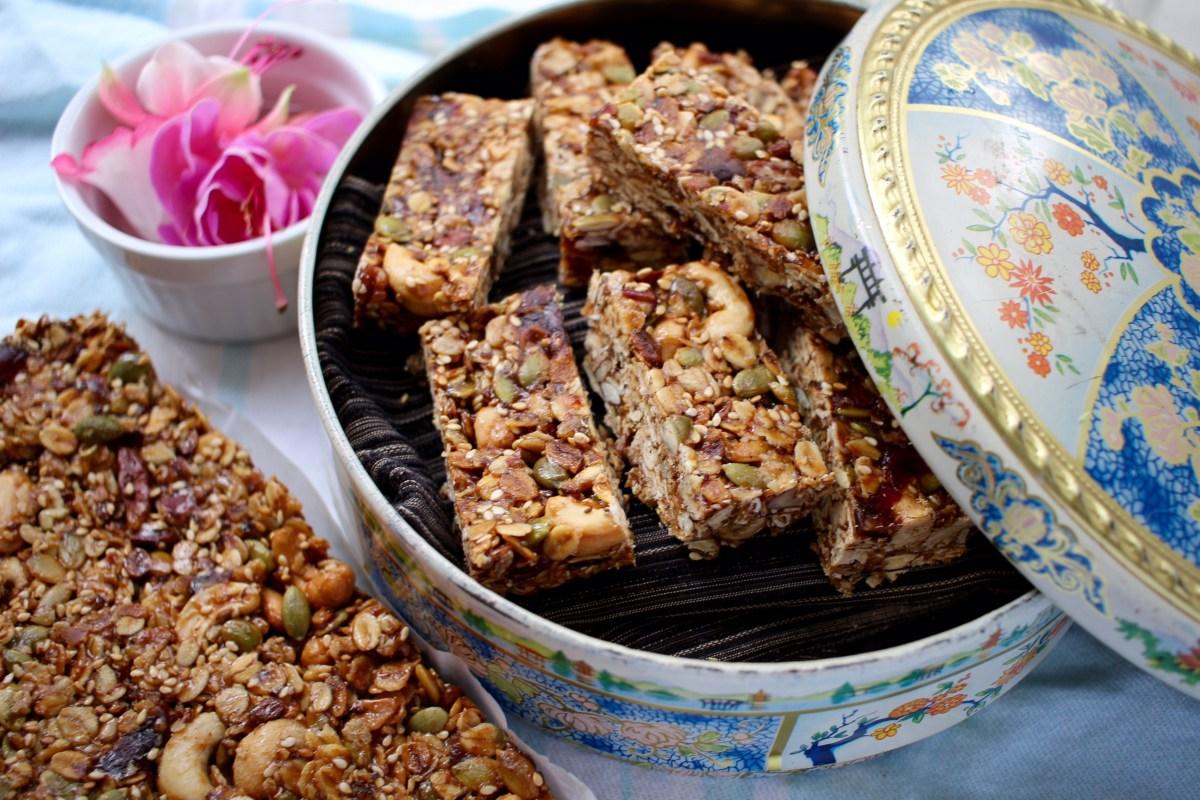 Home made nut bar recipe