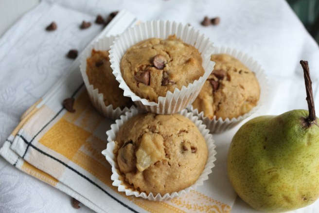 Pear and Chocolate-Chip Muffins