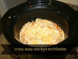 crazy easy stacked enchiladas