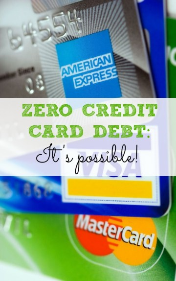 zero credit card debt It's possible! Buying stuff on credit cards and not paying them off each month is like saying your buying something on sale for $15 that normally cost $10. It doesn't make sense!