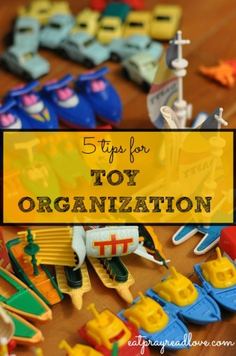5 tips for toy organization