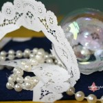 Lace and Pearls DIY Christmas ornament