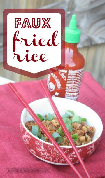 faux fried rice with a secrt ingredient! at eatprayreadlove.com