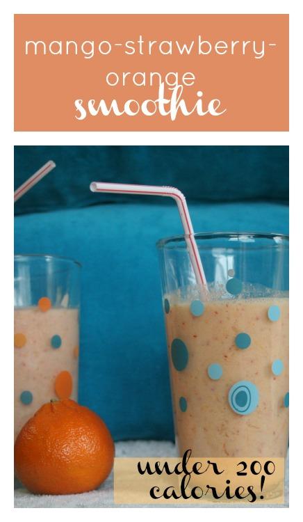 mango-strawberry-orange smoothie recipe at eatprayreadlove.com