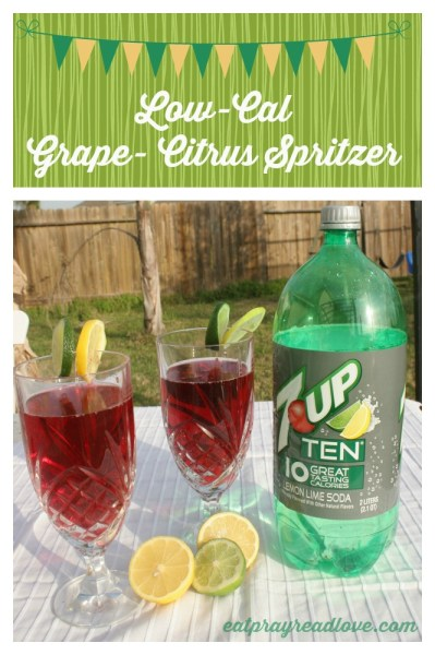 low-cal grape citrus spritzer