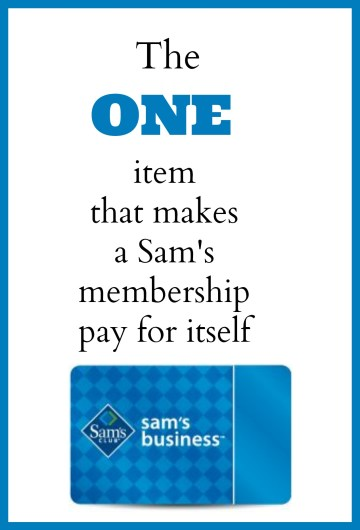 There's one thing our family buys monthly that covers the cost of a Sam's club membership- in just one month!