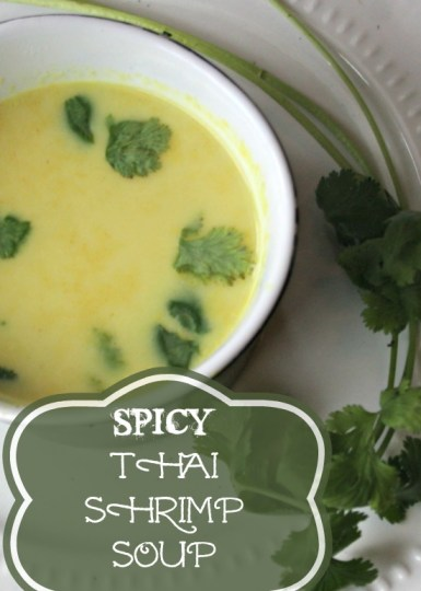 This spicy thai shrimp soup is deliciously cream, spicy, and flavorful. Also It's Paleo and Whole 30 compliant! Hooray!