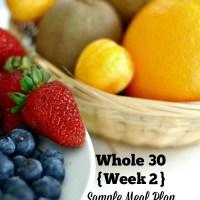 Whole30 Meal Plan Week 2