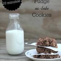 Peanut Butter Fudge No Bake Cookies