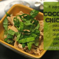 4 Ingredient Coconut Paleo Chicken recipe