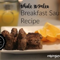 Best Paleo Breakfast Homemade Sausage Recipe