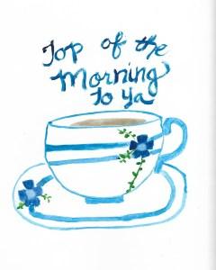teacup blue 8x10