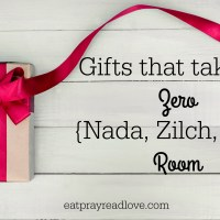 Gifts that Take up Zero (Zilch, Nada) Room {and great deals on them!}