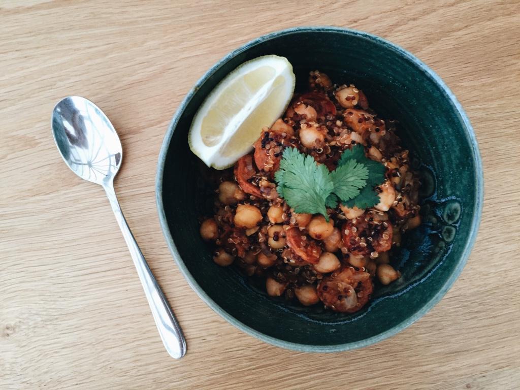 One-Pot Chickpea Chorizo Quinoa