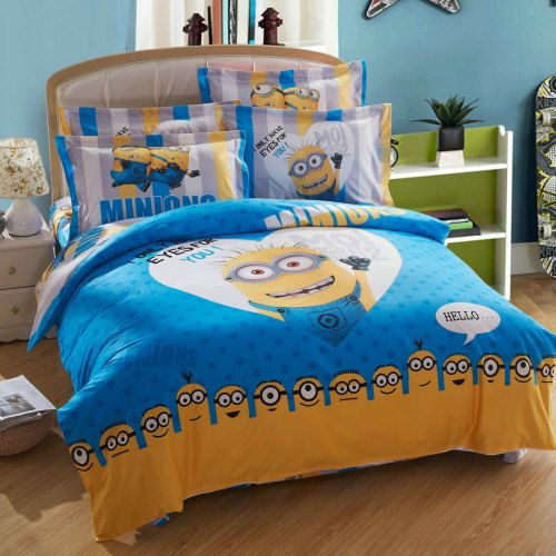 Sleek Minion Bed Set Queen King Twin Size Ebeddingsets Duvet Covers Queen Target Duvet Covers Queen Blue