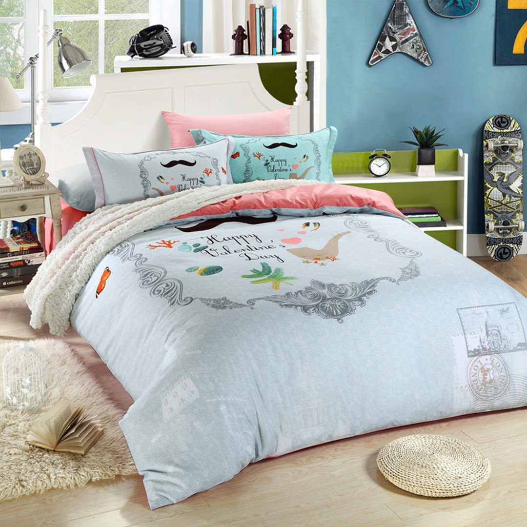 Robust Everything Will Be Ok Bedding Set Happy Valentine Day Bedding Set Ebeddingsets Daybed Sets Toddler Daybed Sets houzz-02 Day Bed Sets