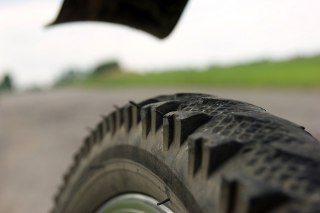 Don't let your tires get this bad or you'll find yourself with a flat tire in no time!