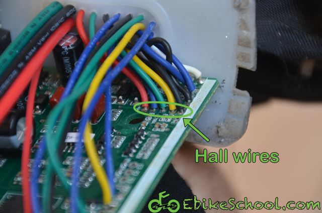 adding Cycle analyst connector to hall sensor wires