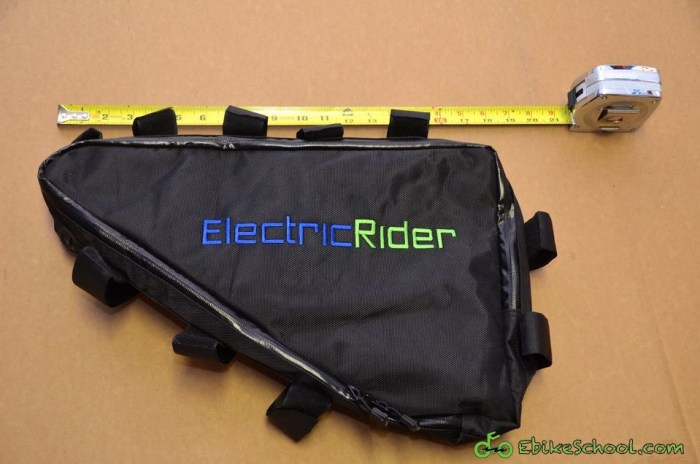 electric rider triangle frame bag with scale