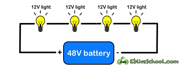 4 12v lights on 48v battery diagram