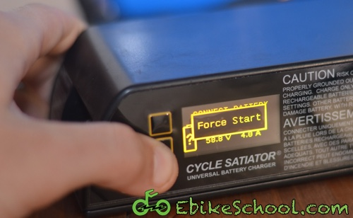 Cycle Satiator force start charging