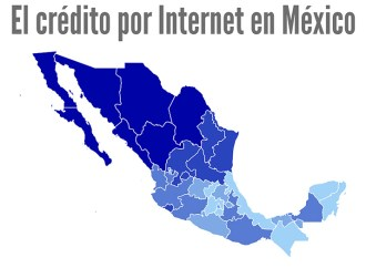 ¿Cuál es el destino de los créditos por internet en México?