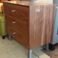 Dasher solid walnut small dresser metal legs $1195