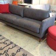 "Jody 86""sofa in heather suede grey $1799"