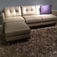 "Moroni 82"" sofa with ottoman $2995"