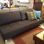Supremax full XL sleeper/sofa in dark brown fabric. $1733.  Floor sample available at $1549
