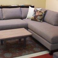 "Bellevue sectional 95""W x 91""L x 37""D x 35""H. Floor model $3990"