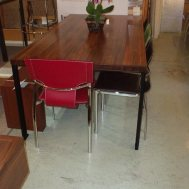 Fontana dining table solid elm $1525.  Floor model $1195