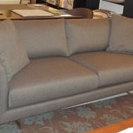 "74"" condo sofa $1499 for the floor model"