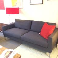 "Slice 78"" sofa in grey wool $2495"