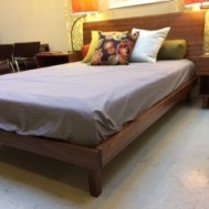 Silverton solid walnut queen bed $2495