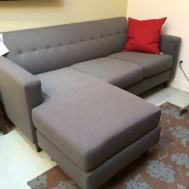 "$1589 Harper sofa with flex chaise 82""Wx62""Dx34""H"