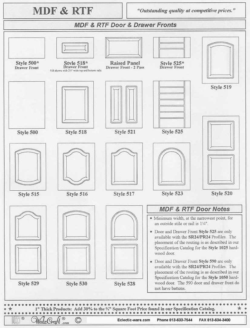 rtf cabinet doors kitchen cabinet doors WalzCraft Industries RTF rigid thermal foil cabinet doors
