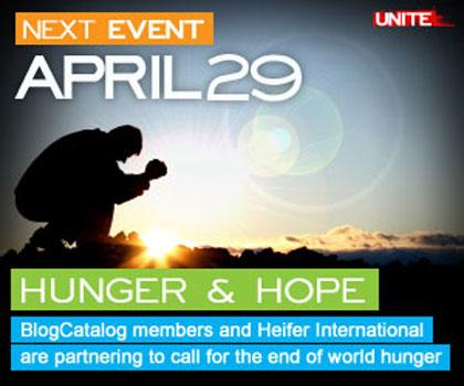 Bloggers Unite for Hunger & Hope on April 29, 2009