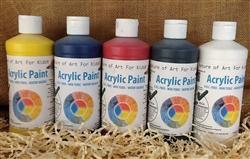 Quality Art Supplies Kids Non-Toxic, bottles of paint preschool safe
