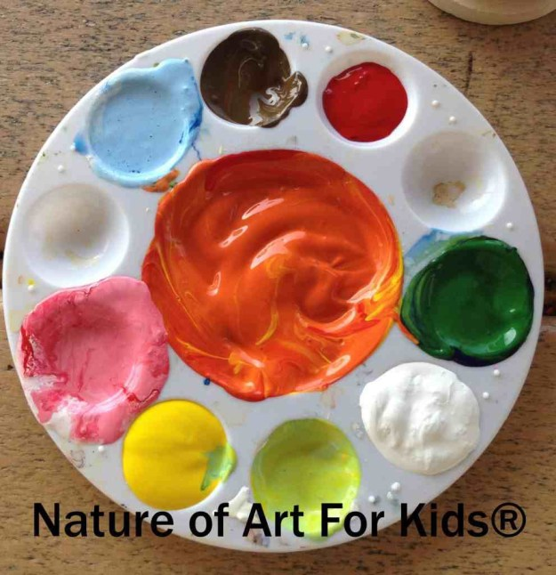 Kids Acrylic Paint | Art Projects mixing colors