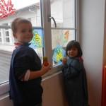 De la peinture sur les vitres !
