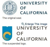 NY Times Picture of Old and Rebranded University of California Logo