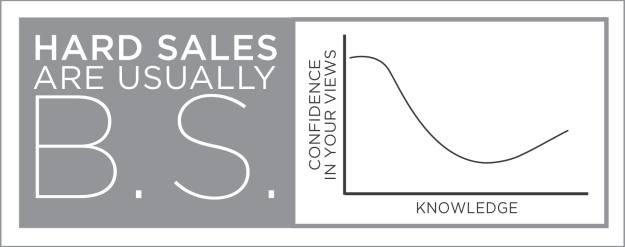 The more confident the seller, the more confident you should be that it's B.S.