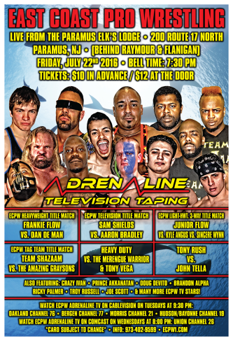 ECPW Adrenaline TV Taping Paramus NJ 7-22-2016