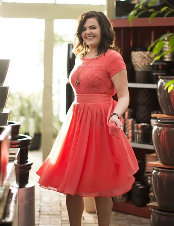 60 fashionable dresses for plus size women ecstasycoffee for Plus size coral dress for wedding