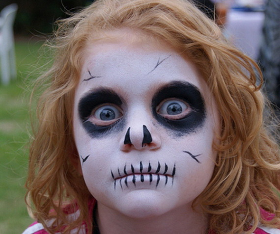 30 scary and unique kids halloween makeup ideas ecstasycoffee - Pinturas para halloween ...