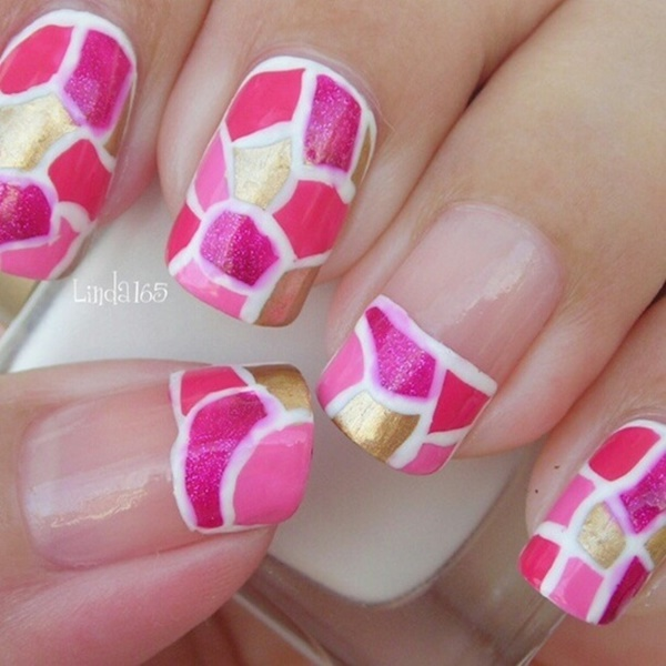 40 Best Shellac Nail Art Design Ideas Ecstasycoffee: 50 Most Beautiful Pink And White Nails Designs Ideas You