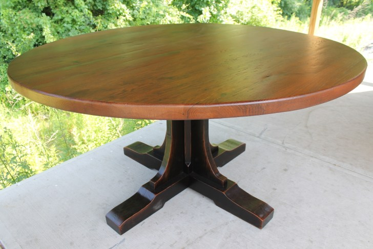 round farmhouse tables custom kitchen tables Custom Pedestal for Round Table