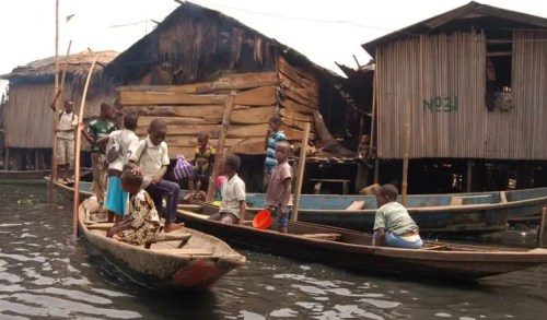 30. Houses on water, Makoko style.  Nigeria's biggest slum is also the site of CEE-HOPE's biggest educational program